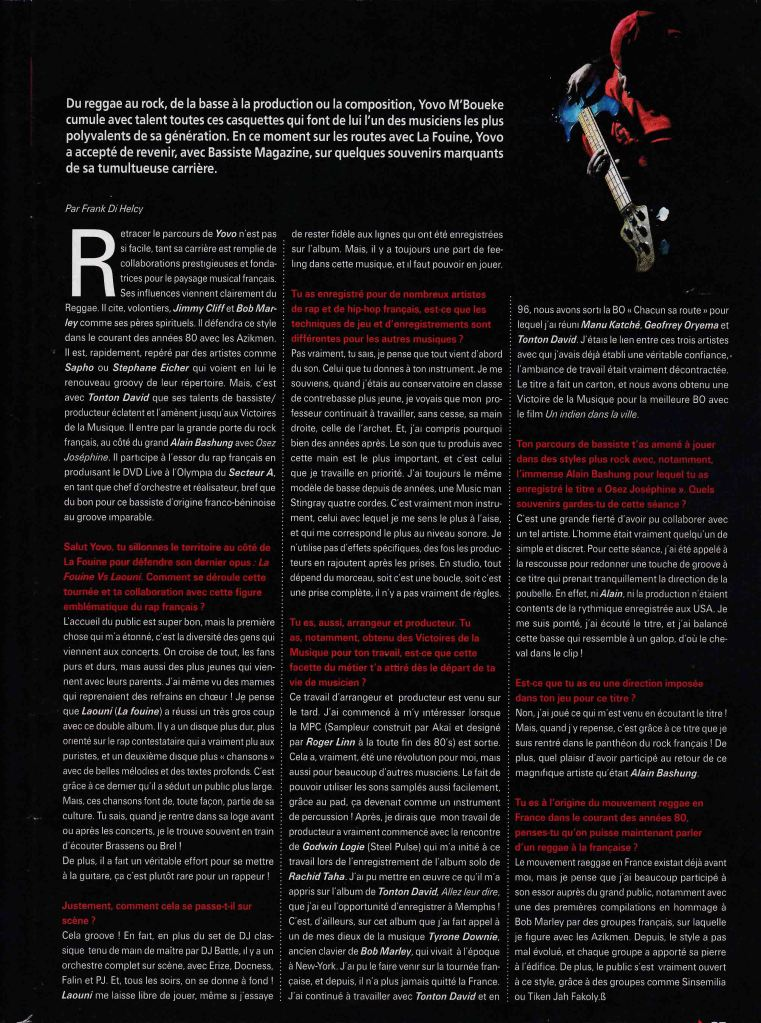 Article Yovo-Bass Magasine Web
