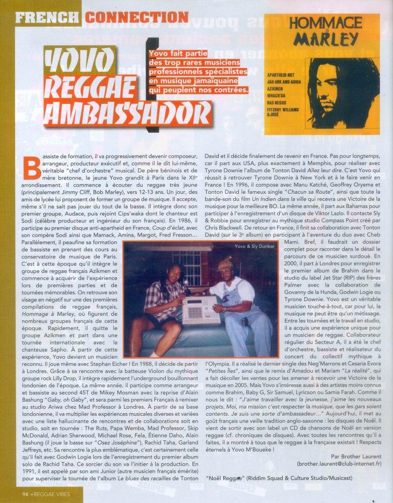 Yovo Reggae Ambassador Janvier 2011